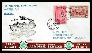 Canada First Flight Cover Montreal to Dublin Ireland 1939 Imperial Airways