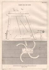 VICTORIAN ENGINEERING DRAWING. Washing mill for cloth (1) 1847 old print
