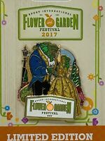 Disney Pin EPCOT Flower & Garden Festival Beauty and the Beast Topiary 2017 LE