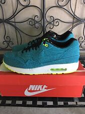 DS NIKE AIR MAX 1 FB US 11 BLUE LEOPARD safari atmos powerwall brs hoa 90 95 97