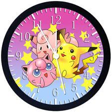 Pokemon Pikachu Black Frame Wall Clock Nice For Decor or Gifts Z136