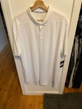 Nike Dri Fit Golf White Polo Xxl 891881-100
