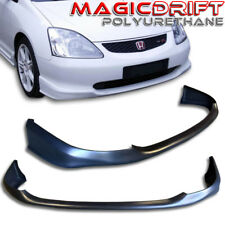 02-05 Civic 3dr Si Hatchback Type-R Front + Rear Bumper Lip Combo (Urethane)