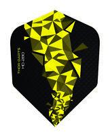 THOR-DARTS 150 micron Flight gelb - schwarz, yellow darts flights 150mic F2