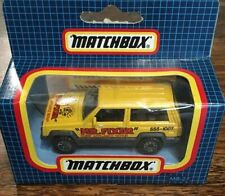 Matchbox MB-27 New In Chequered Box Jeep Cherokee Colour Yellow