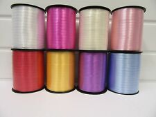 2 Metres or 500 metre Roll 5mm Curling Florist Balloon Ribbon Double sided UK
