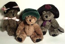 Boyds Bears Simone~Blanche~Camille ~ New w/Tags ~ Lot of 3 Bears with Hats