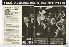 Coupure de presse Clipping 1979 (3 pages) Adieu John Wayne