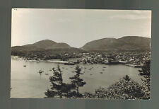 Mint Bar Harbor Maine ME Real Picture Postcard View of bay and Mountains RPPC