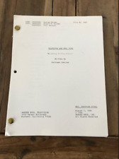 """Scarecrow and Mrs. King TV show script - """"A Lovely Little Affair"""""""