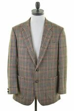 DAKS Mens 2 Button Blazer Jacket EU 50 Large Multicoloured Check Wool  IN09