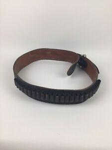 "Vintage Bianchi Western Cowboy Gun Cartridge Belt 34"""