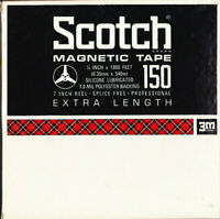 """1 Scotch Magnetic Tape Reel to Reel - 7"""" 150 Extra Length used"""