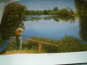 Legendary Redmire limited edition print  John Mould.Signed fishing angling carp