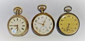 Uralt Konvolut 800 Silber Taschenuhr Uhr Minerva Uhrmacher Ersatzteil um 1910