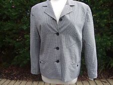 SPORTSGIRL JACKET SIZE 14 BLACK WHITE CHECK LOVELY RRP$74.99 LOOKS UNWORN WORK