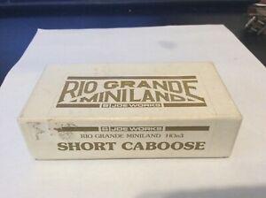Rio Grande Midland (Joe Works) HOn3 Brass Short Caboose NOS/OB