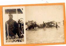 Real Photo Postcard RPPC - Aviation Calbraith Cal Rodgers & Wrecked Airplane