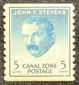 US CANAL ZONE 1962 - JOHN F. STEVENS - 5c COIL STAMP - FINE USED