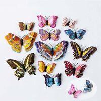 Magnets Ornament Butterfly Kitchen 12pcs Refrigerator Lots Fridge Home