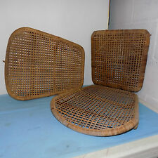 Wood and Wicker Folding  Canoe Seat with two seat backs