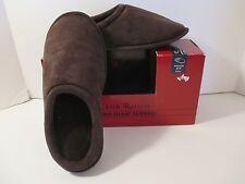 NEW Men's CLUB ROOM INDOOR OUTDOOR SPRING FOAM Brown Slippers~M 8-9