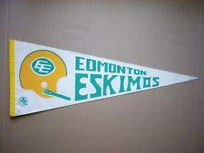 1970'S EDMONTON ESKIMOS VINTAGE CFL FOOTBALL PENNANT FLAG SHARP!!