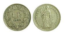 pci1850) Svizzera  Switzerland  Helvetia -  1 Franco  1939 Toned