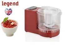 120W WATT Legend RED Mini Food Chopper Processor Blender Grinder Slicer 300ml