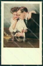 Clarence Underwood Lady MM Vienne 387 postcard cartolina QT6838