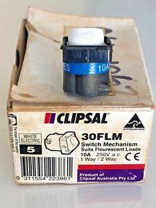 Clipsal 30FLM Switch Mechanism 250VAC 10A 1-Way / 2-way Fluorescent Loads 5 Pack