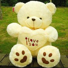 Giant Stuffed 50cm Love Teddy Bear Pillow Beige Plush Toy Doll Animal Child Gift