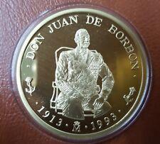 Juan Carlos I año 1993. Estuche con 5 y 100 ECU Oro 34,55 gr. Juan de Borbón.