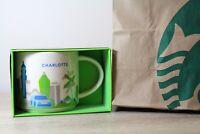 Original Starbucks 14oz Mug You are Here YAH Collection Charlotte NC NEW