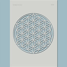 Schablone Blume des Lebens - Leinwand, Textil, Mixed Media, Holz | (7510)