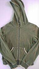 American Eagle Velour Hoodie Jacket Womens SZ M Lightweight AE Casual Gym Green