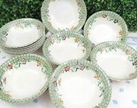 Set of 4 Vtg Mason's Patent Ironstone English Country Garden Soup Cereal Bowls