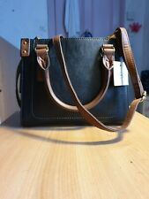Fossil Black leather Claire mini satchel