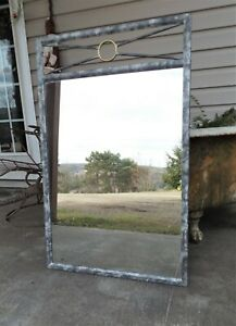 "Southwest Inspired Metal Framed Wall Mirror, 38"" X 24"""