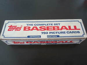 1985 TOPPS BASEBALL COMPLETE FACTORY SET CLEMENS MCGWIRE ROOKIES SEE DESCRIPTION