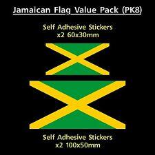 Jamaican / Jamaica Flag Sticker Decals - Value Pack! - Van, Car, Truck, Marley