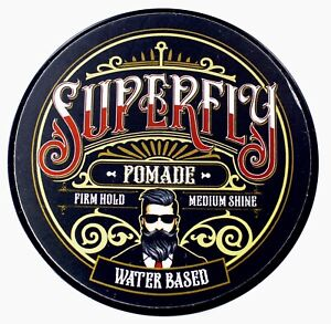 Superfly Pomade (Firm Hold) Fresh Scent. 5.3oz Natural Ingredients. Medium Shine