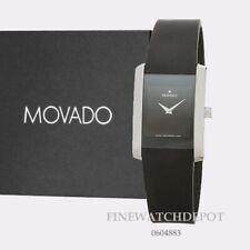 Authentic Movado Men's Eliro Swiss Black Sillicon Strap Watch 0604883