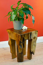 Side Table Wood Root Wood Teakwood Table Flower Stand Plant Stand Massive