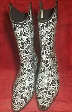 Ladies BOPS by Beehive Crain , western cowgirl rain  boots - Size US 9M Euro 40