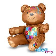 PALLONCINO MYLAR ORSO 48 cm HAPPY BIRTHDAY Addobbi Festa Compleanno Bambini