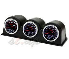 52Mm Oil Pressure+ Oil Tempt+ Water Tempt Gauge + 3X Port Triple Pod Holder Led