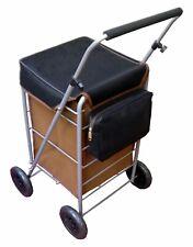 Clásico 4 Rueda de Carro de la compra de empuje plegable Trolley Bolsa Con Marco De Metal