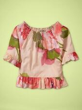 baby Gap 3T Adorable Pink Floral Ruffle Swing Flounce Top