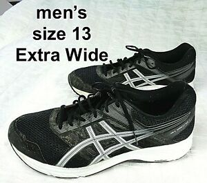 Asics Gel Contend 5 Mens Running Casual Shoes in BLACK Mens Size 13 EXTRA WIDE